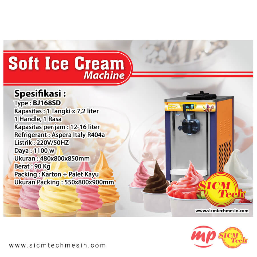 BJ168SD Ice cream Machine new