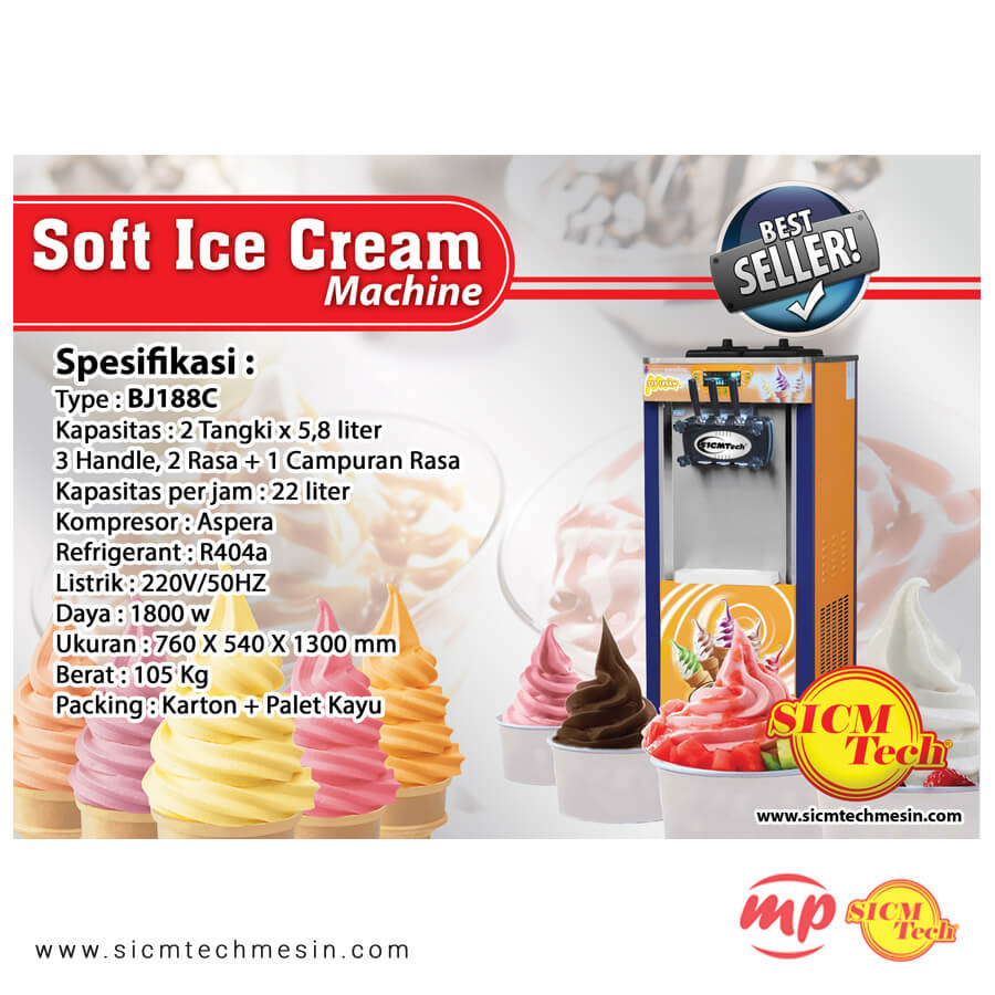 BJ188C Ice cream Machine new