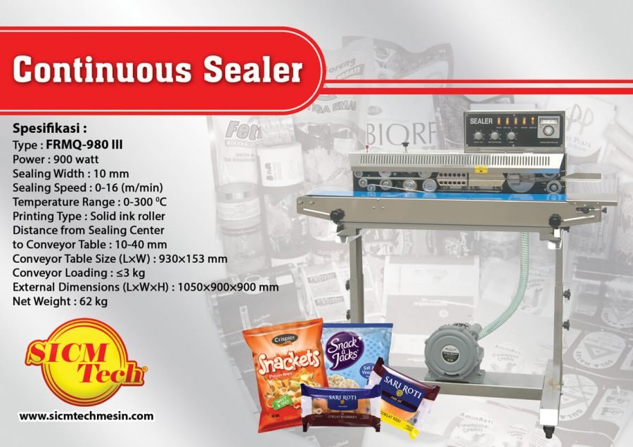 Continuous Sealer Gas FRMQ-980 III