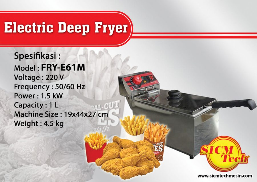 Electric Deep Fryer FRY-E61M
