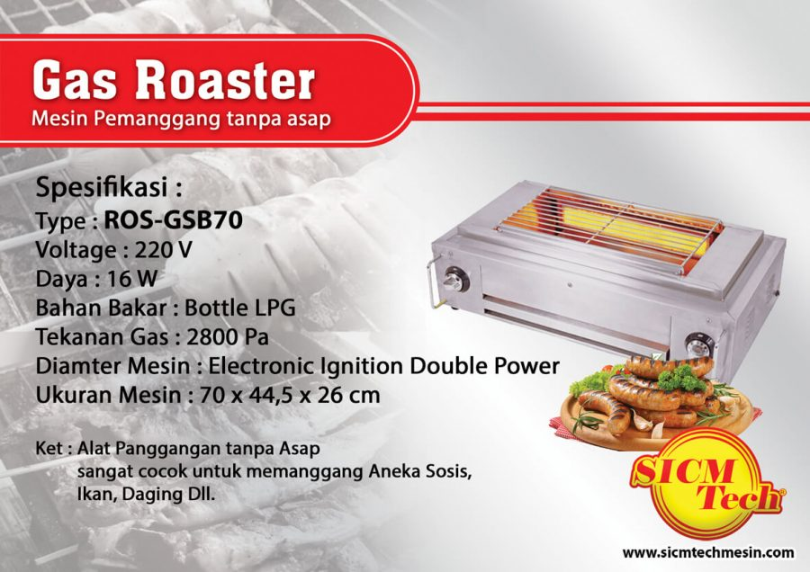 Gas Roaster ROS GSB70