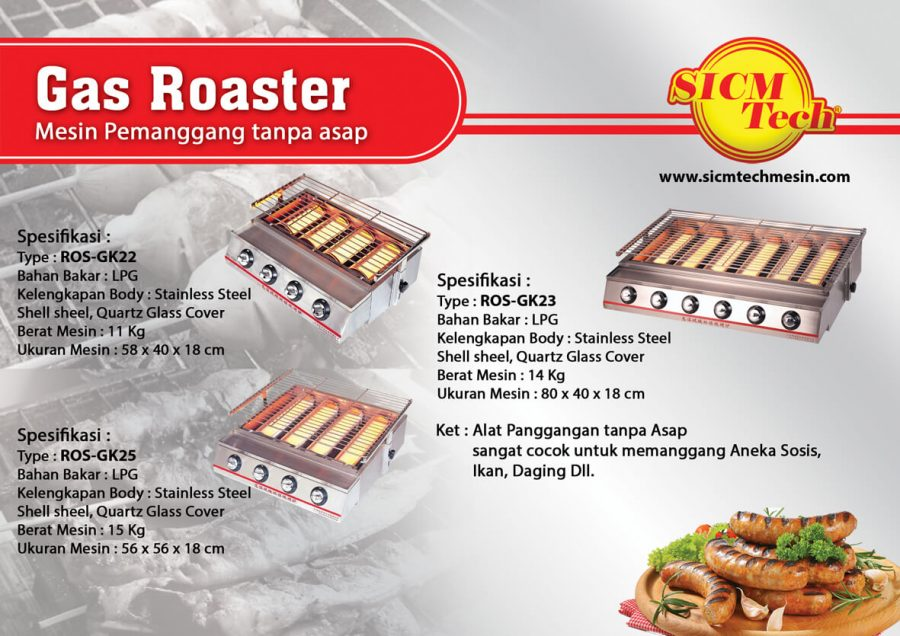 Gas Roaster Stainles