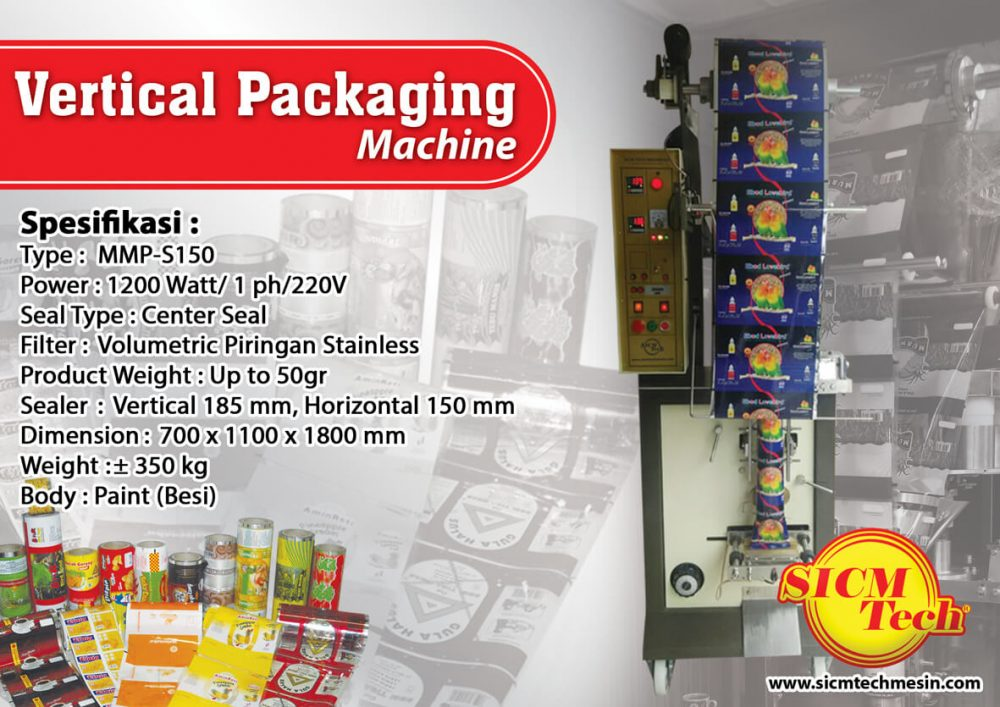 Vertical Packaging Machine SICM Tech MMP-S150 25gr Kopi Besi