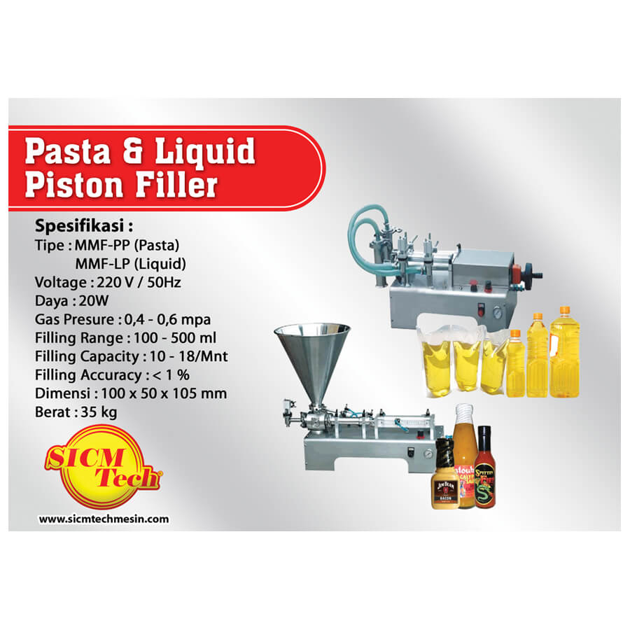 Pasta & Liquid Piston Filler