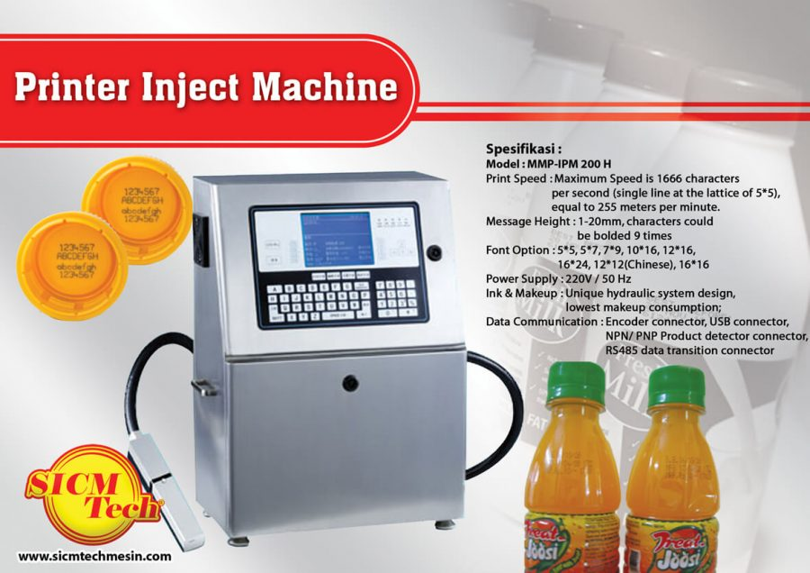 Printer Inject Machine