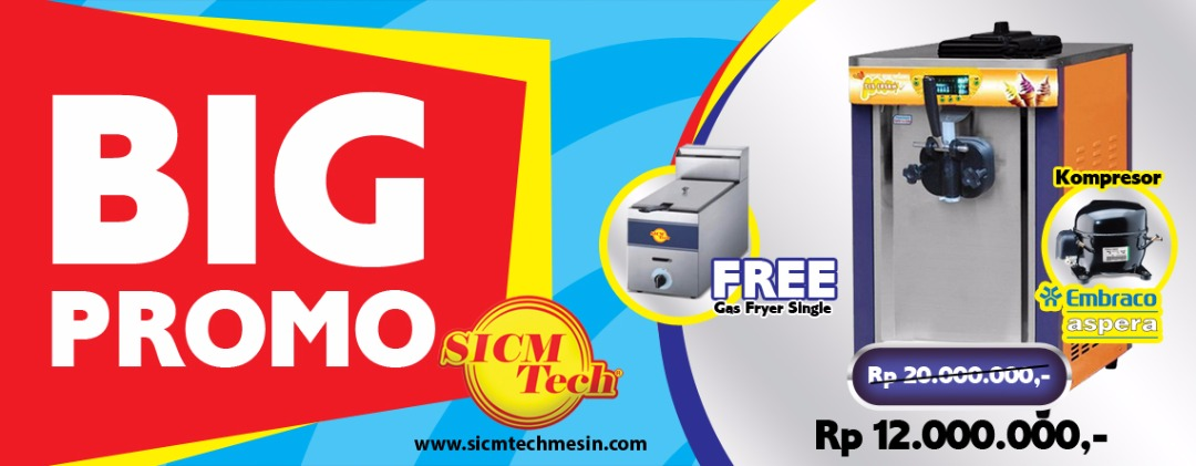 SICM Tech Mesin Diskon Mesin Soft Ice Cream