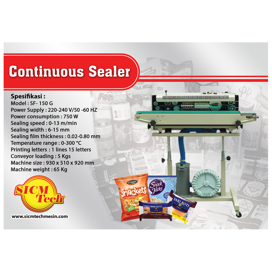 Continuous Sealer SF 150G with gas