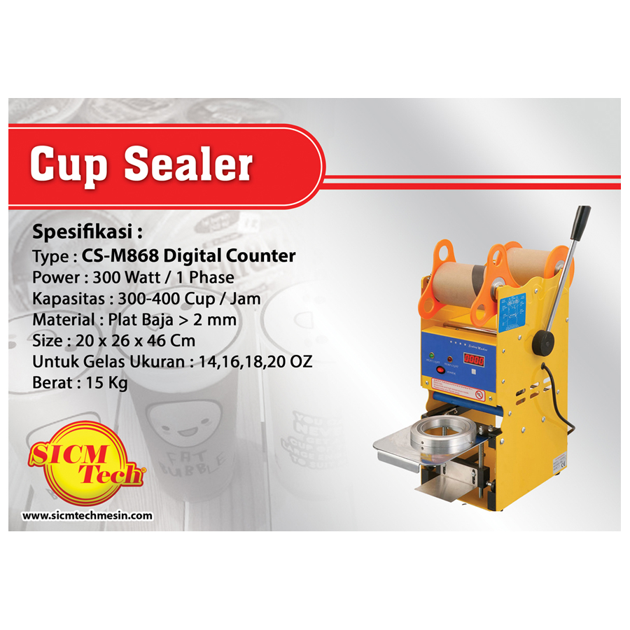 Cup Sealer Manual & Digital Counter CS-M868